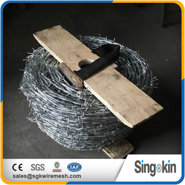 China new design raw material coiled barbed wire