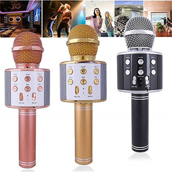 Portable Size WS858 Wireless Ble Microphone High Sensitivity Home KTV Music Playing Online Chat Karaoke Microphone