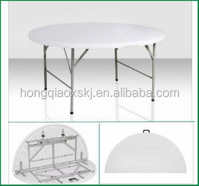 ZY1525u0027 Round Folding In Half Table/152cm Plastic Foldable Round Banquet  Table/outdoor