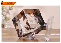 Acrylic Crystal Magic Cube Photo Frame