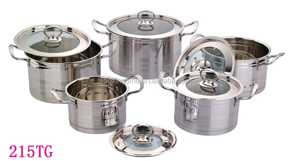 High Quality 10 PCS Stainless Steel 201 Cookware Set Kitchen Set