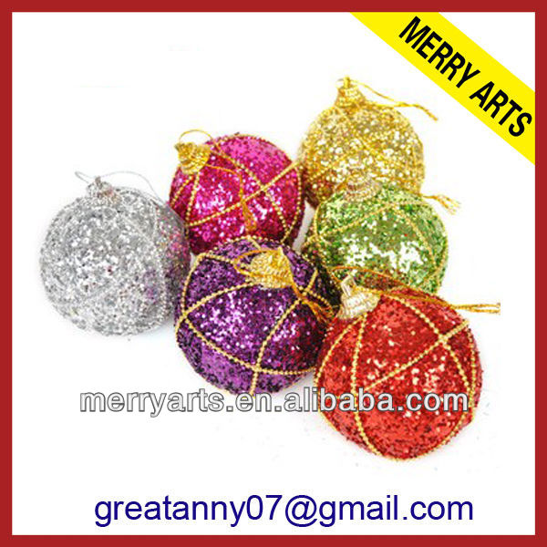 cheap red glitter christmas ornaments balls,chrismtas decoration ball,glitter styrofoam christmas balls