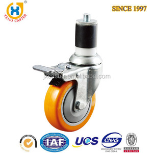 High Quality 5-inch Medium Duty Expanding Adaptor Stem Total Locking Caster