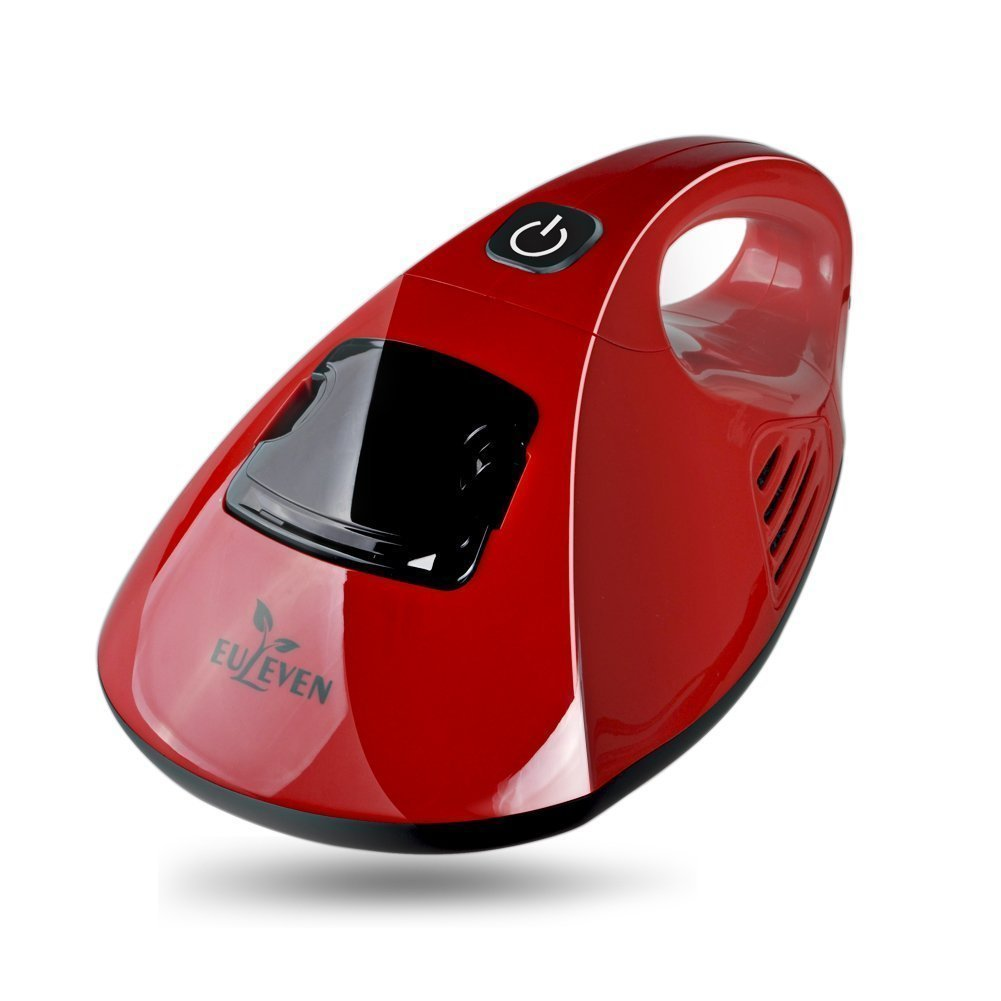 Euleven Hot Wind Anti-Dust Mites UV Handheld Vacuum Cleaner with HEPA Filtration and Double Powerful Suctions Eliminates Mites, Allergens for Mattresses, Pillows, Cloth Sofas, and Carpets (SYJ-3005CH)