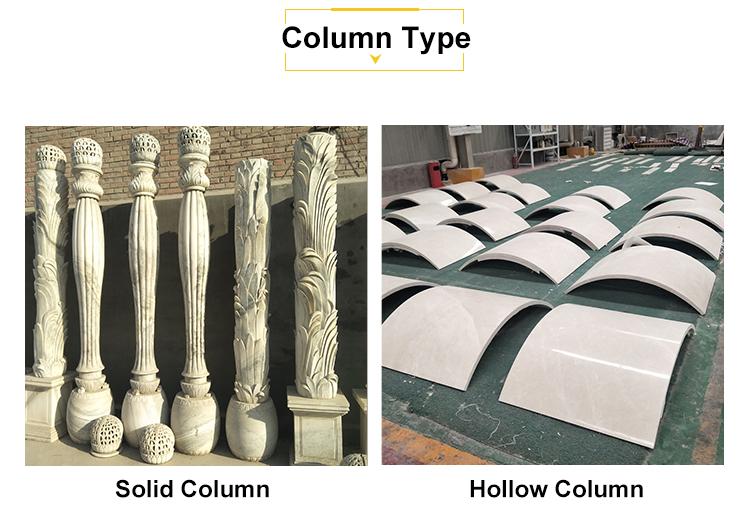 Cột Kiến Trúc Màu Be Bằng Đá Sa Thạch Roman Trụ Cột Khuôn Cưới Trang Trí