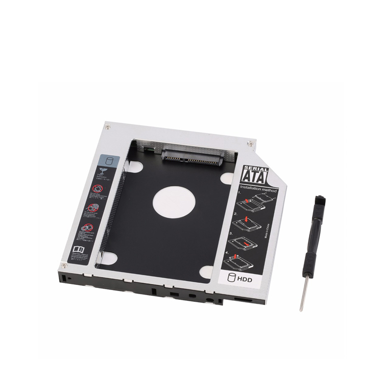 Universal 12.7mm SATA 2nd HDD SSD Hard Drive Caddy para DVD-R