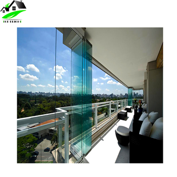 Customized Design Exterior Frameless Bifold Glass Folding Door With  Hardware   Buy Door Design,Aluminum Bifold Door,Folding Door Product On ...