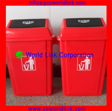 40L Pushing Lid Plastic Kitchen Garbage Bins