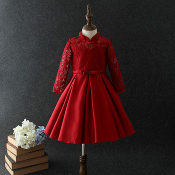 683bdc144 Wholesale Clothes Turkey Red Winter Long Sleeve Girls Wedding Dress ...