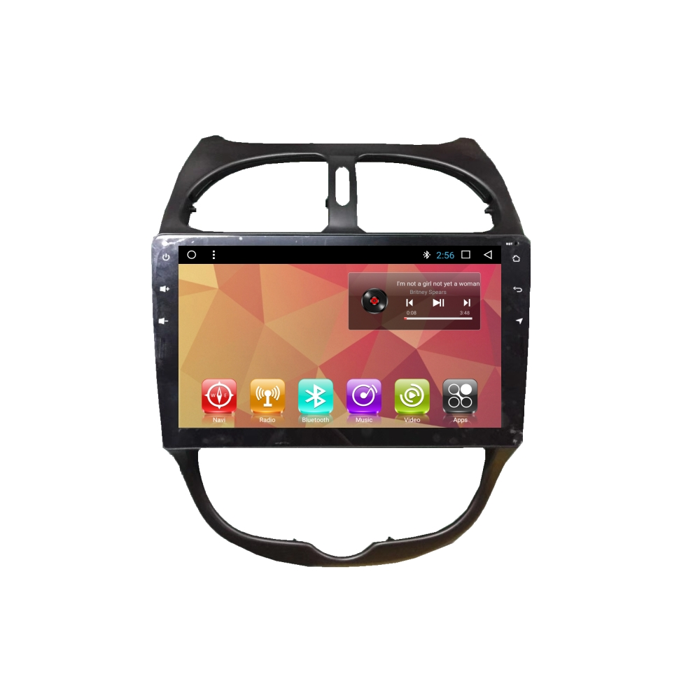 10 1 inch Android Auto Radio Car Dvd Multimedia Player for Peugeot 206,  View 10 1 inch car multimedia player, BOSSTAR Product Details from Shenzhen