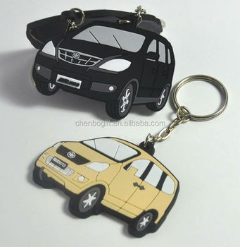 Best seller car shape silicone rubber key chain , soft pvc auto key chain