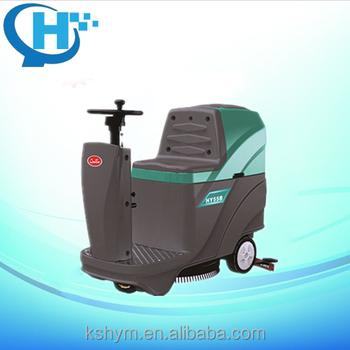 Mini ride on scrubber dryer automatic floor scrubber for Concrete floor scrubber