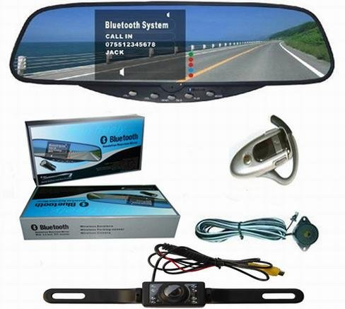 bluetooth rearview monitor, rear view system with back up camera and parking sensor