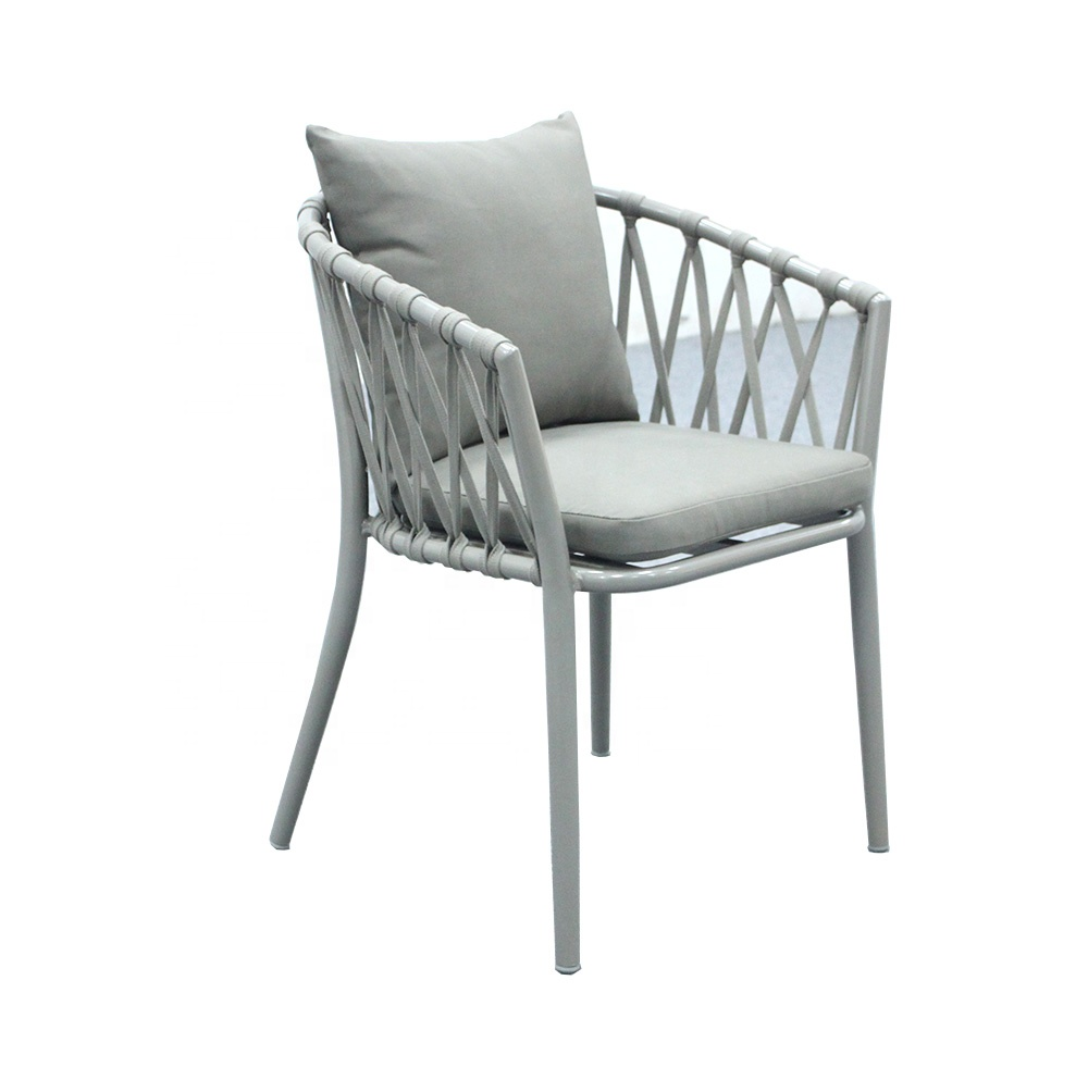 Outstanding Rope Woven Garden Furniture Aluminum Outdoor Dining Chair Buy Rope Chair Outdoor Dining Chair Outdoor Chair Product On Alibaba Com Beutiful Home Inspiration Aditmahrainfo