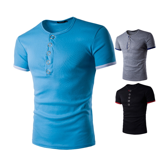 LX072 Youth popular 30% polyester 70% cotton fabric metal buckle tshirt in stock / OEM Custom фото