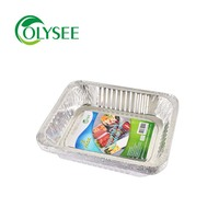 Factory price retail pack disposable 1/2 aluminum foil pans for food packaging