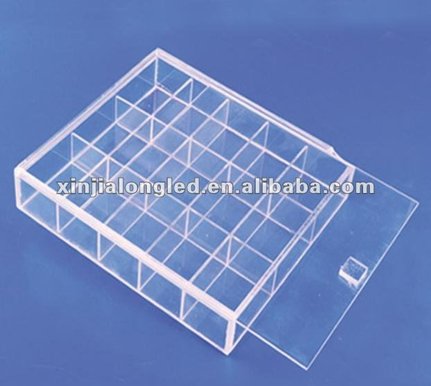 Clear Acrylic Jewelry Ornaments Earring Display Box Acrylic Jewelry Tray with Cover