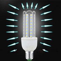 U led energy saving bulb 2U 3U 4U smd 2835 led corn light dimmable glass led corn bulb e27