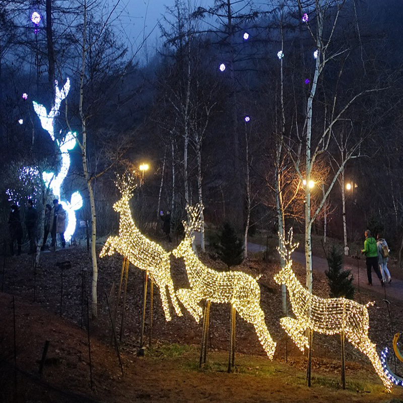 large outdoor life size animal moose shaped led outdoor lighting christmas elk outdoor decorations
