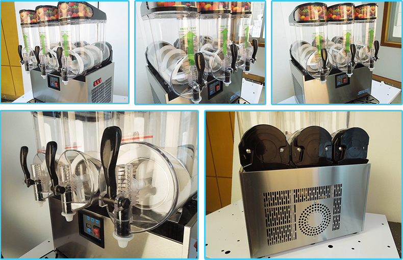Two Bowls Slush Machine Slushie Machine With LED Light Cover
