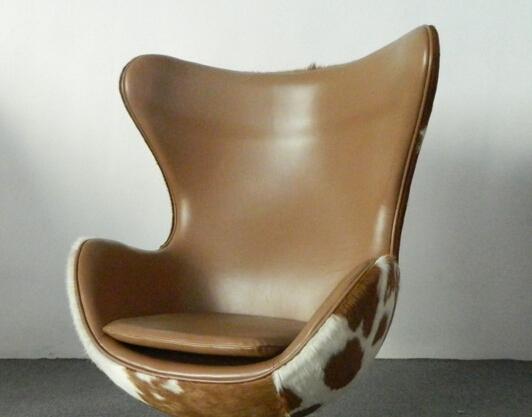 Superb Modern Furniture Wool Fabric Egg Lounge Chair Replica Pony Skin Arne Jacobsen  Egg Chair Genuine Leather