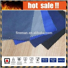 comfortable 150gsm 100 cotton plain fireproof fabric cloth for coverall/overall/jackets lining