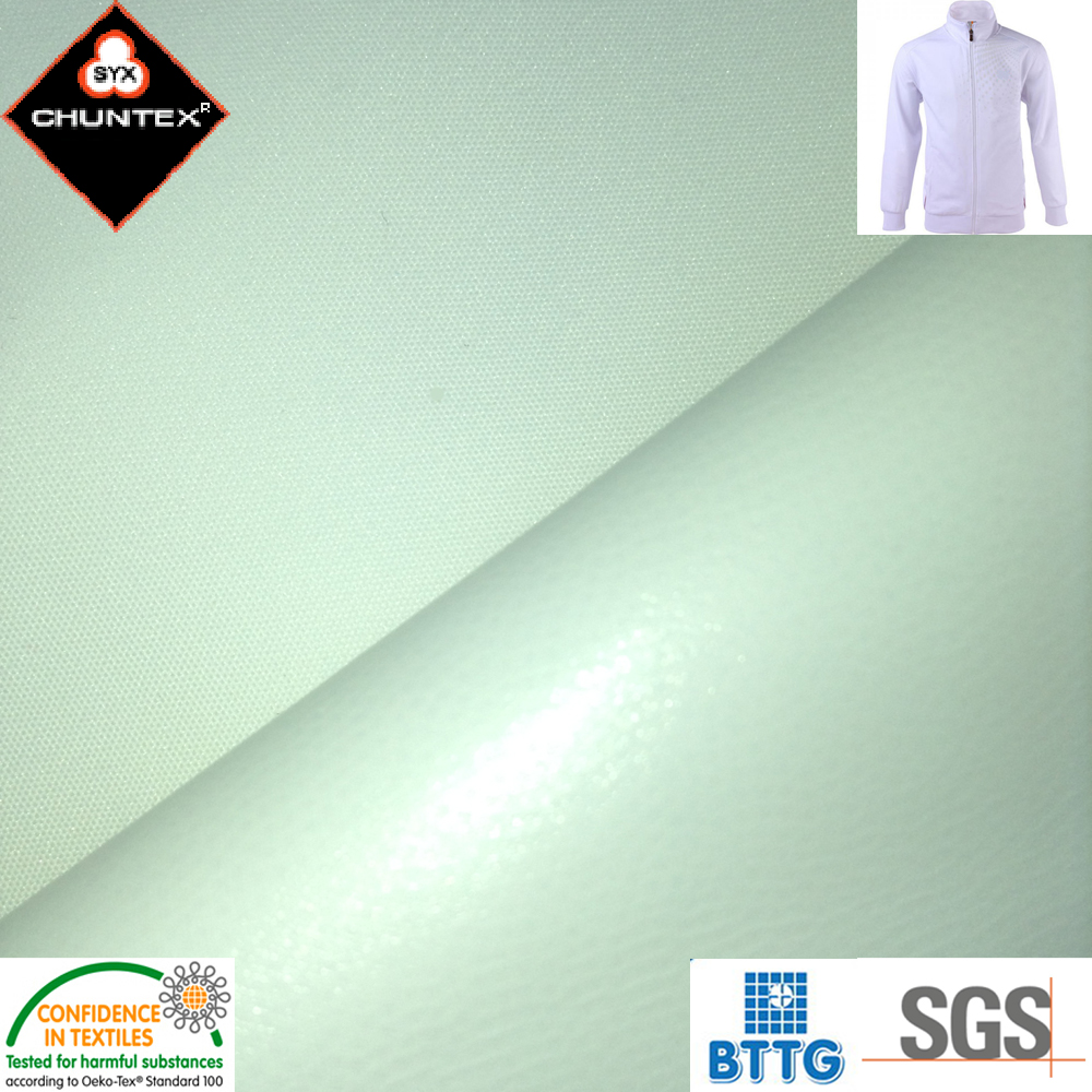 Water Resistant TPU Laminated Teflon coated poly pongee Fabric
