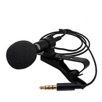 Clip-on Collar clip Microphone 3.5mm Jack Mini Wired Condenser Mic for Smartphones Laptop micro cravate