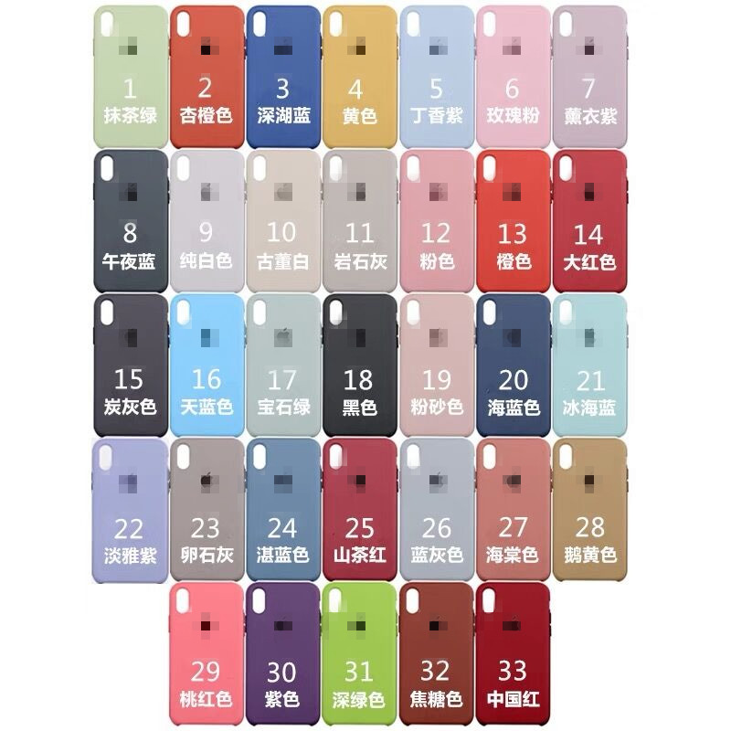 For iPhone X Original Liquid Silicone Case Shockproof Soft Silicone Cover Case With Custom Logo