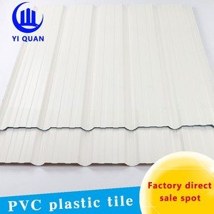 pvc colored trapeziod long curve roof covering