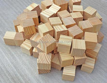 Natural Wooden Craft 10mm to 50mm Diameter Cubes Wood Block Cube