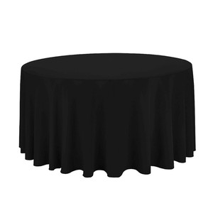 TP08171 -3 Black 120 ' round spun polyester table cloth for wedding and table