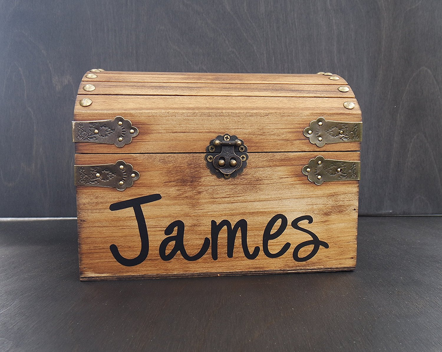 Stained Personalized Wood Chest, Child's Keepsake Chest, Child's Toy Chest, Birthday Gift, Graduation Gift, Wooden Stained Chest, Baby Gift