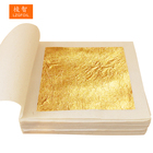 100 Sheets 9.33 x 9.33 cm Facial Mask Drink Cake Baking Food Decoration Genuine Chinese Edible 24K Gold Leaf Foil Paper Sheets