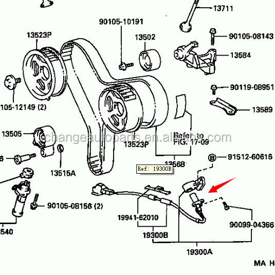 9091905021 90919-05021 genuine toyota camshaft crankshaft ... tail light wiring diagram 2006 tacoma