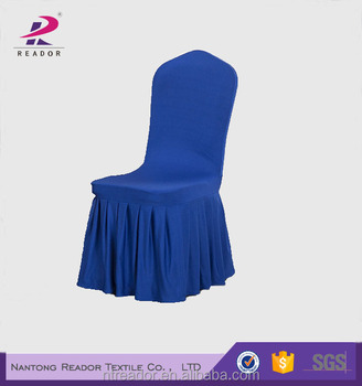 Royal Blue Chair Covers Skirting For Folding Chairs
