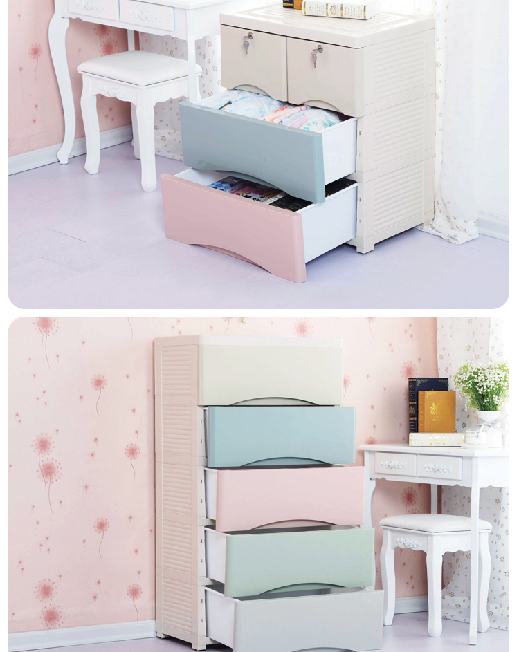Wholesales Colorful Baby Plastic Cabinet Drawer For Clothes
