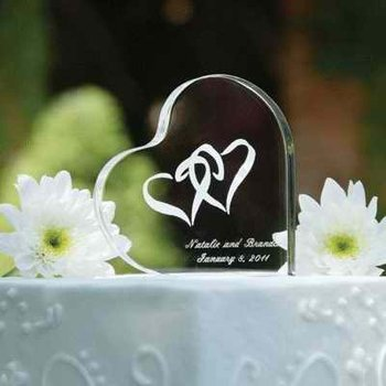 Heart Shape Crystal Wedding Gifts Engraved Favors Custom Souvenir For Guest