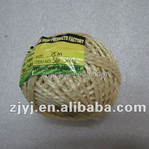 Household and Handicraft Sisal Twine, Sisal Yarn, Sisal Cord, 250g, 3 Plies (S60-3250R)