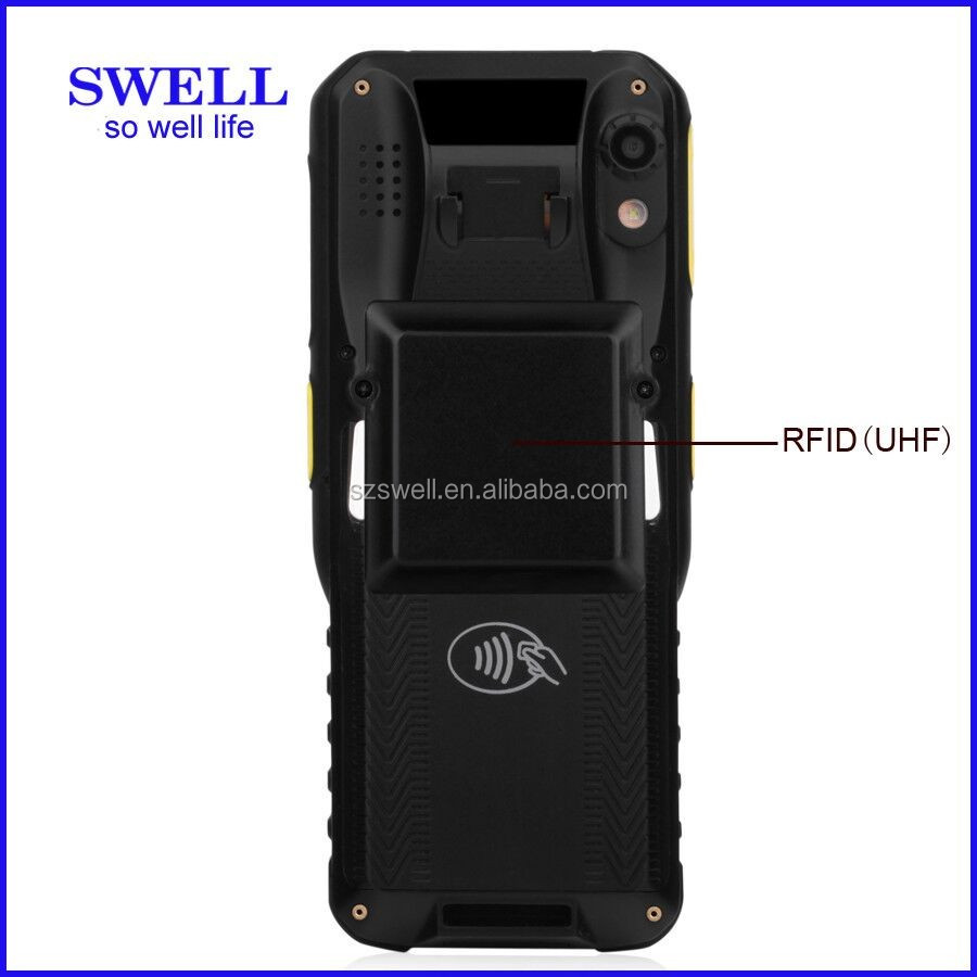 K100 NFC RFID 4G scanner 1D 2D rugged smartphone QZSS terminal android phone without camera