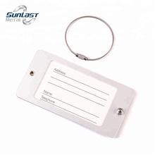 Wholesale acrylic plate silver aluminum luggage tag