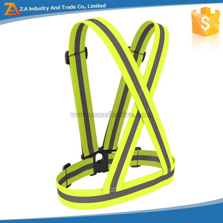 Available Colors High Visibility Belt LED Night Flashing Reflective Safety Elastic Exercise Belt for Outdoor Fashion Running