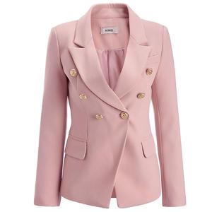 Wholesale Hot Sale Slim Fit Metal Head Buckles V Neck Double Breasted  Jacket Casual Office Lady Tuxedo Blazer Ladi Woman Mujer