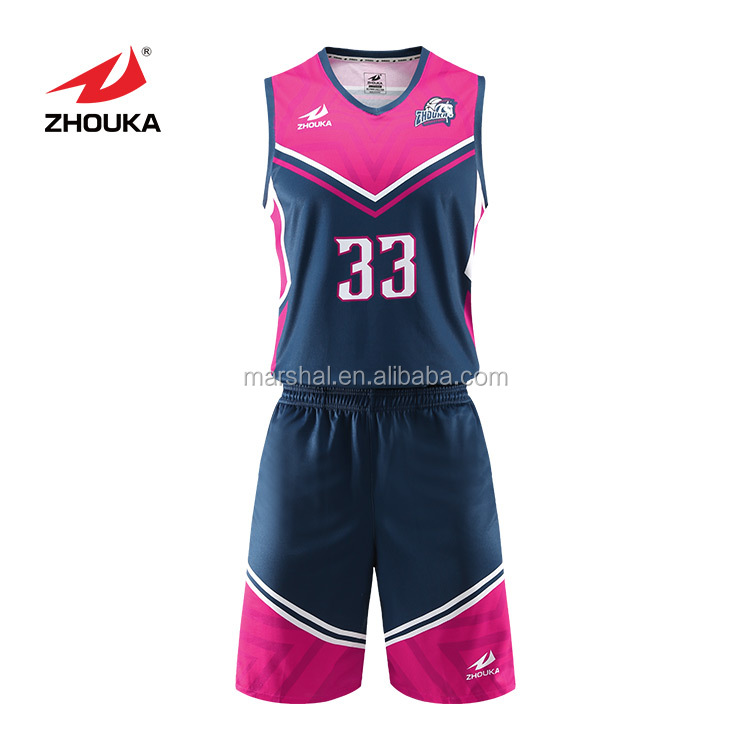Best Quality Basketball Jersey Design Basketball Team Apparel Basketball Jersey Design Black And Pink View Latest Basketball Jersey Design Oem Service Product Details From Guangzhou Marshal Clothes Co Ltd On Alibaba Com