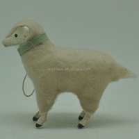 Small poly lamb with fleece for Christmas decoration wholesame from Shenzhen factory