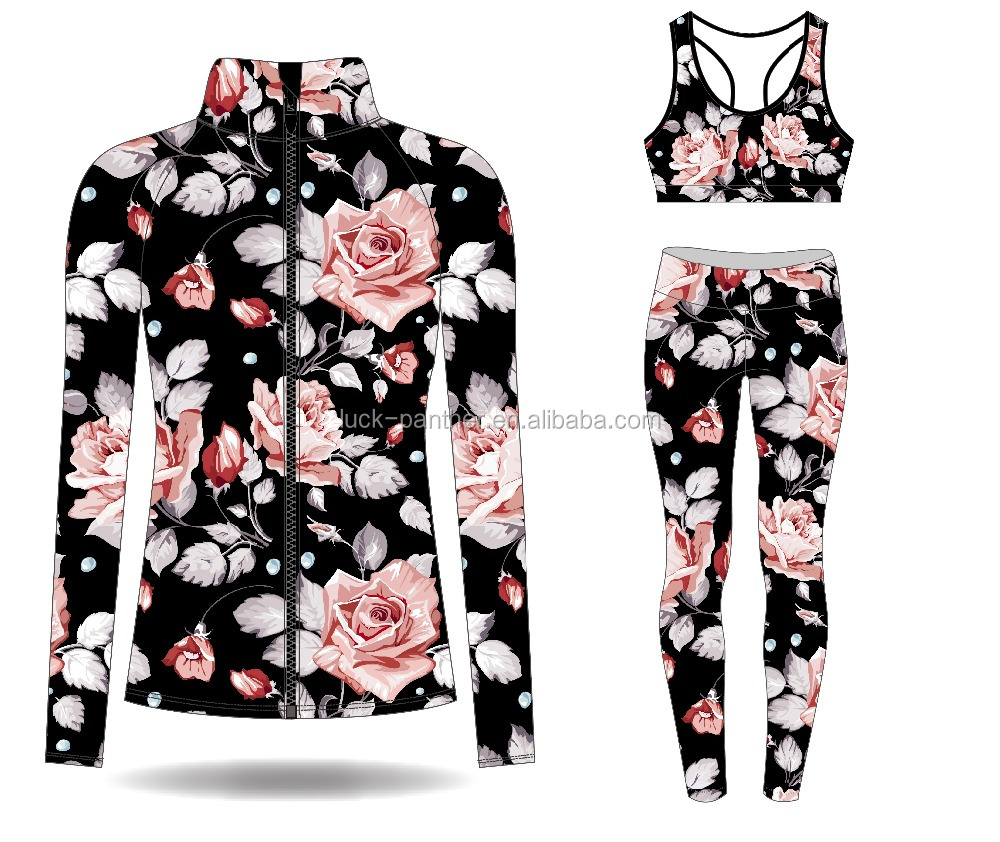 (OEM Factory)Dry fit Workout Clothes Fitness Yoga Wear Womens Sports Wear Gym Clothing