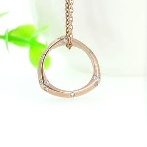 Eyeglass Necklace With Peace Pendant