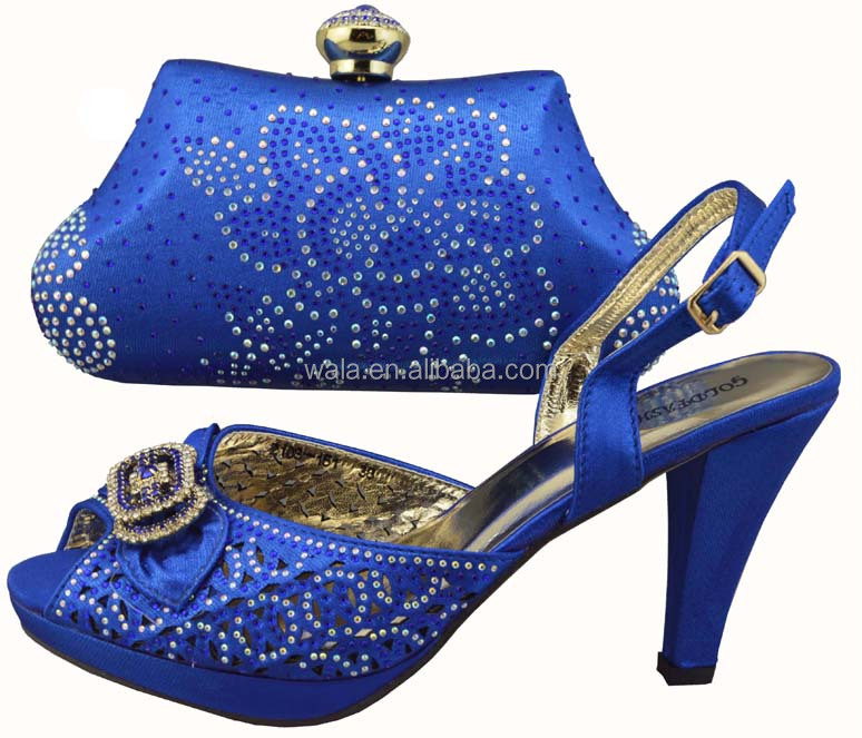 Matching blue 2014 With Italian Gorgeous SB712 Shoes Bag Wedding 7XSq7T