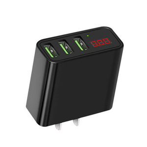 LCD Display EU US 3 Ports USB Charger 3A Portable Mobile Phone Chargers Travel Dual usb Wall Charger for Samsung Mobile Phone