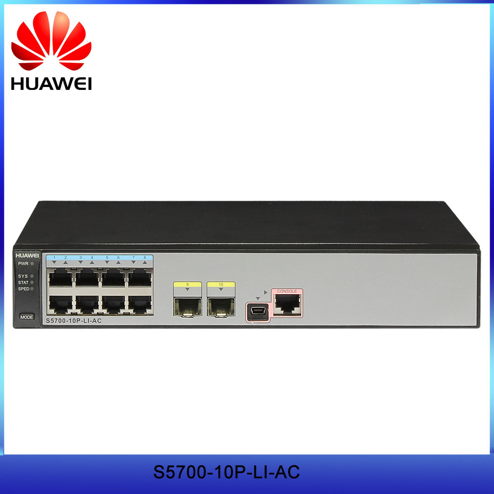 Original Hua Wei S5700-li Series 8 Port Gigabit Switch S5700-10p-li-ac With Cheap Price Fiber Optic Equipments Cellphones & Telecommunications